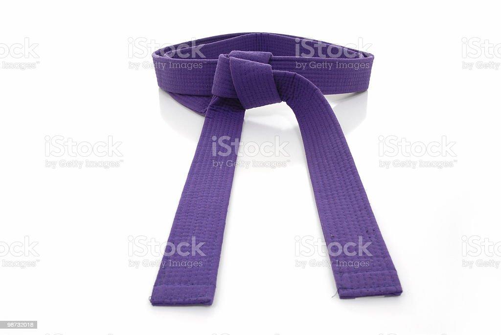 Purple belt royalty-free stock photo