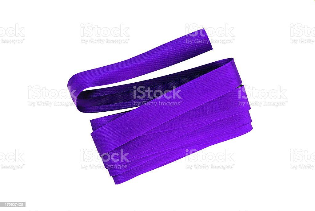 Purple bias binding, isolated royalty-free stock photo