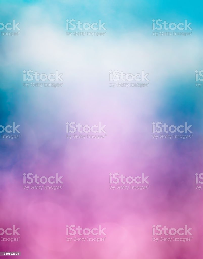 Purple Blue Cloud and Bokeh stock photo