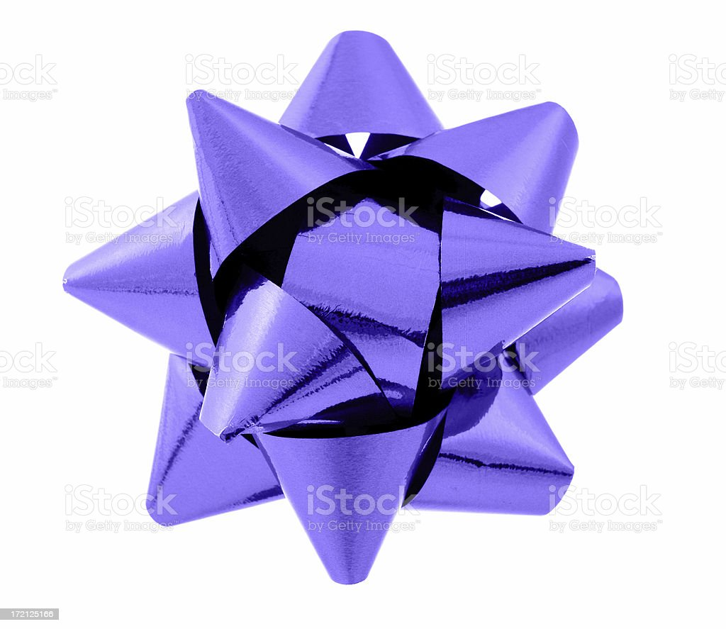 Purple Bow royalty-free stock photo