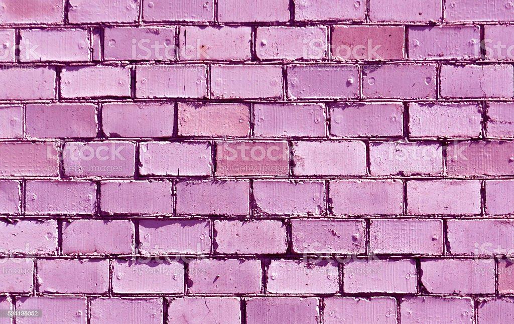 Purple brick wall texture. stock photo