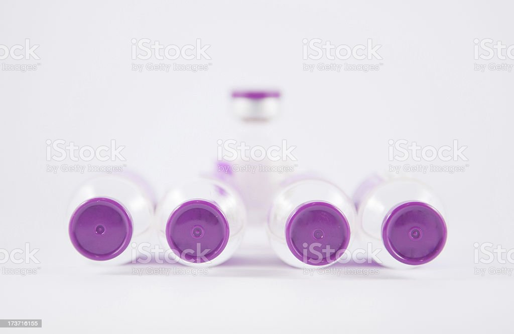 purple cap injection vial show medicine concept royalty-free stock photo