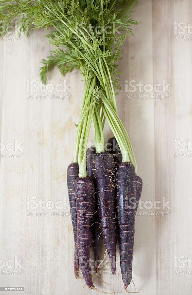 Purple Carrots stock photo