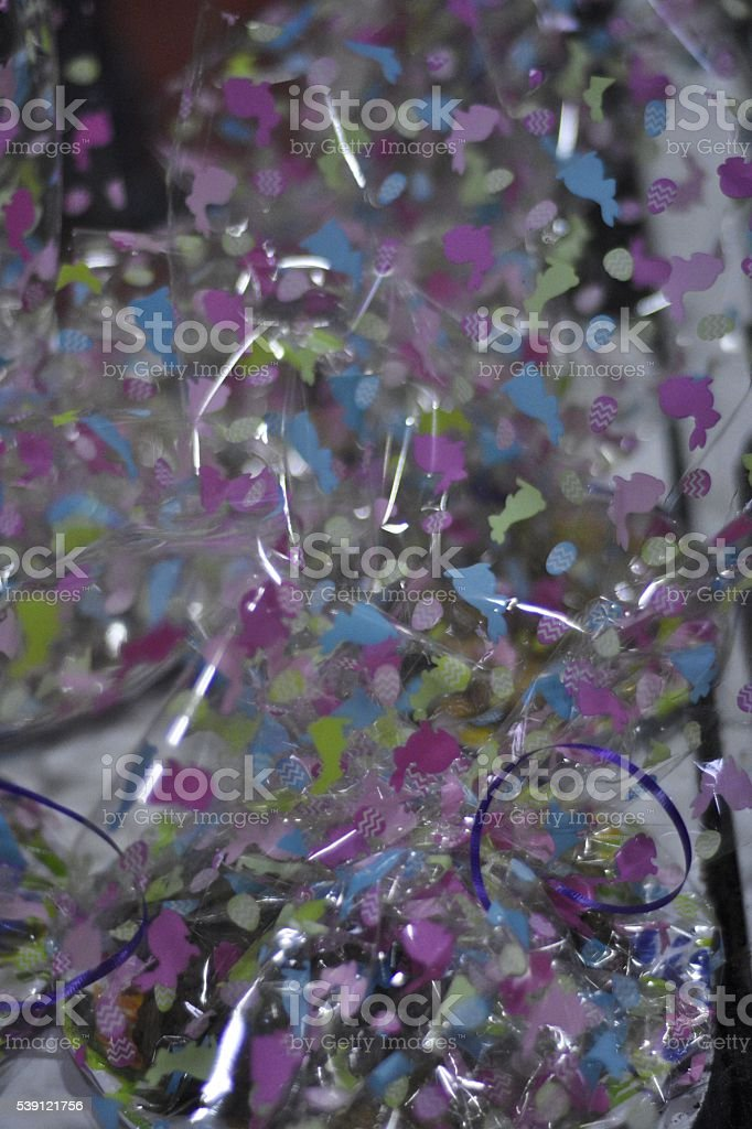 Purple cellophane wrappers stock photo