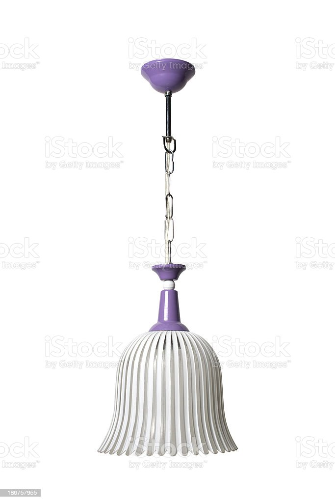 Purple chandalier with path royalty-free stock photo