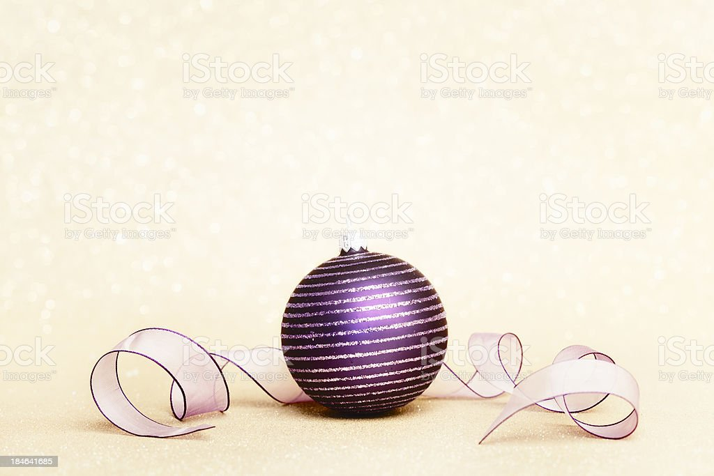Purple Christmas Bauble royalty-free stock photo
