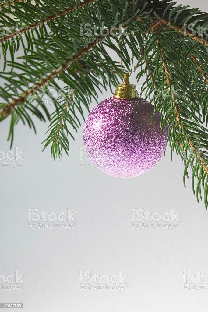 purple christmas decoration ball royalty-free stock photo