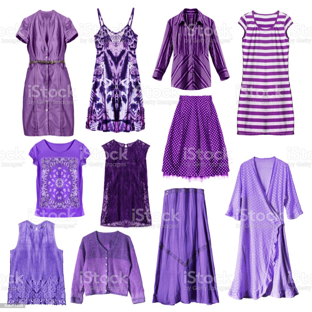Purple clothes isolated stock photo