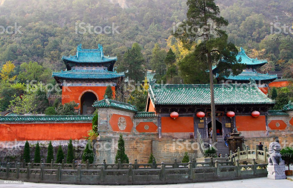 Purple Cloud Temple at Wudang Mountains, Hubei province, China stock photo