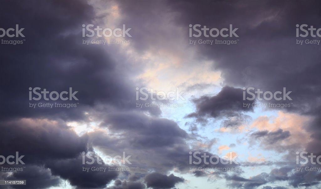 Purple Clouds royalty-free stock photo
