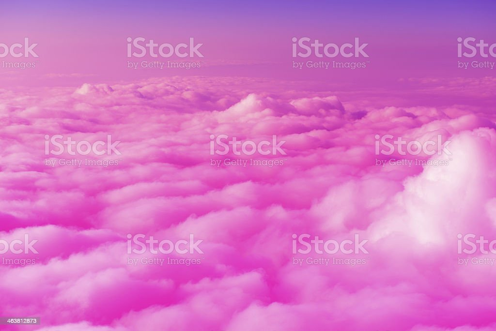 Purple Clouds stock photo