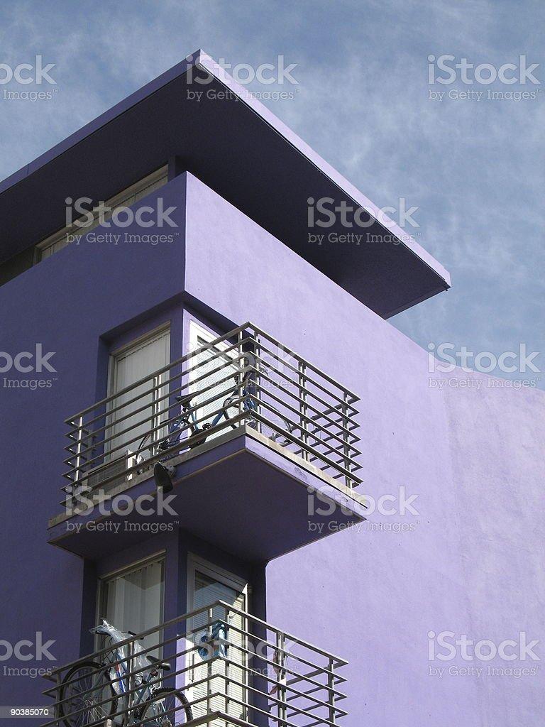 purple condos royalty-free stock photo