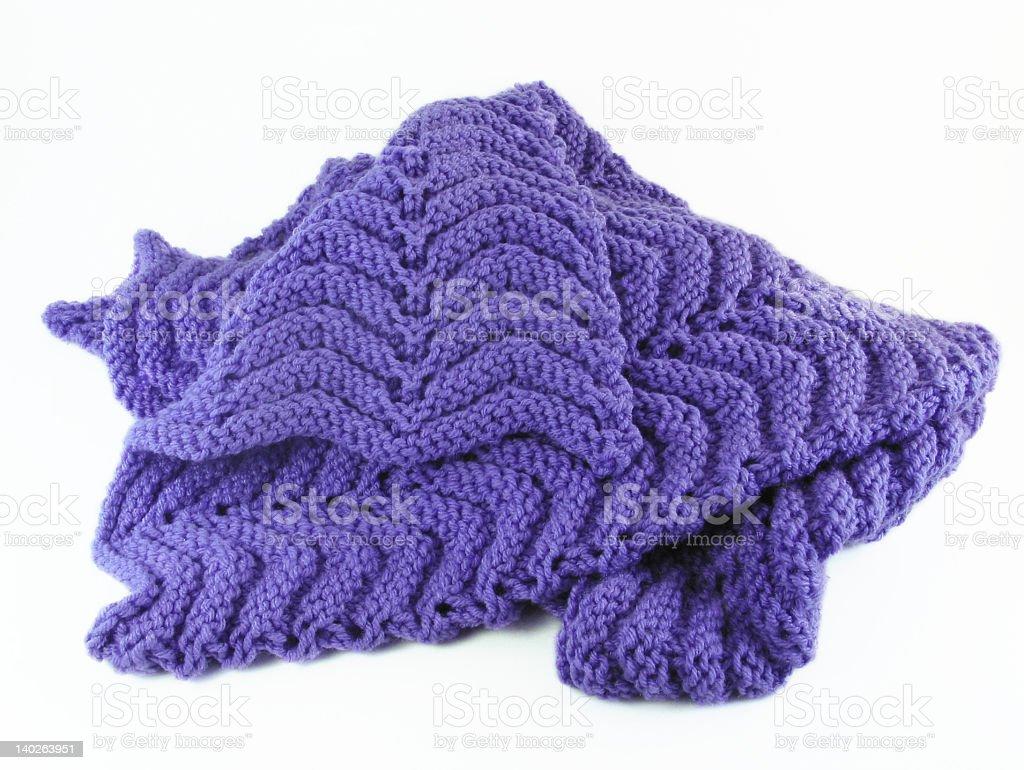 Purple Crochet Afghan stock photo
