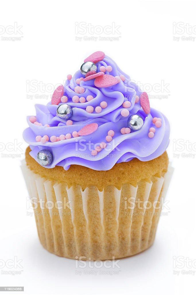 Purple cupcake royalty-free stock photo