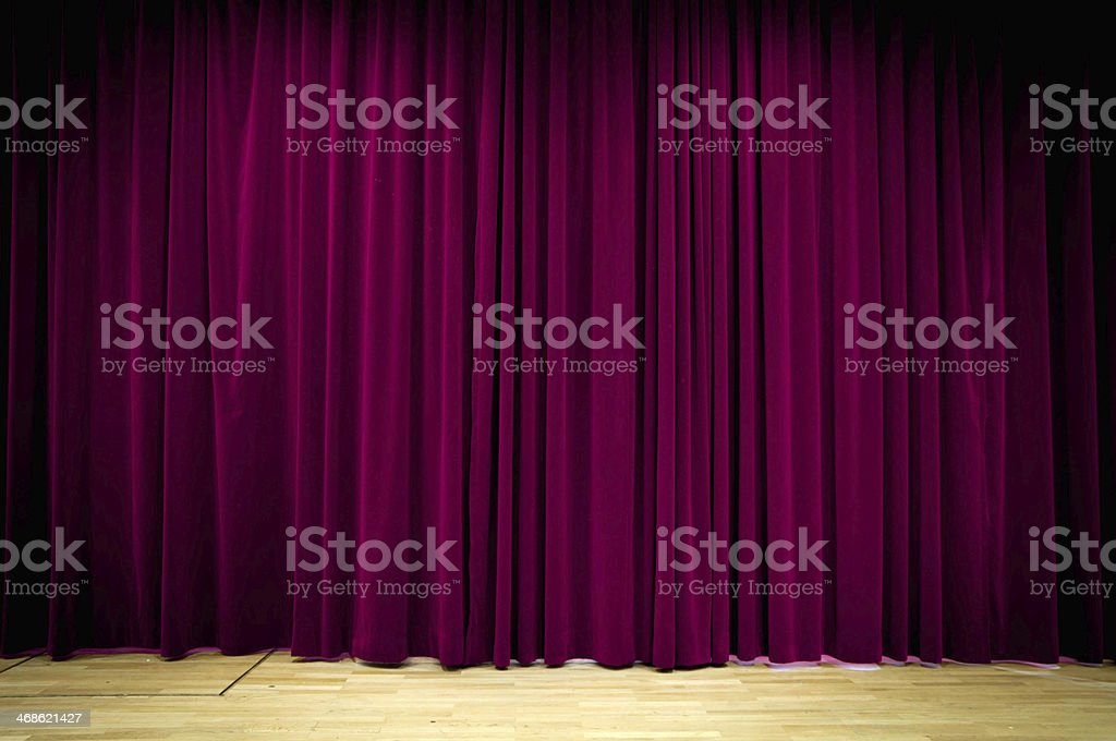 Purple Curtain royalty-free stock photo