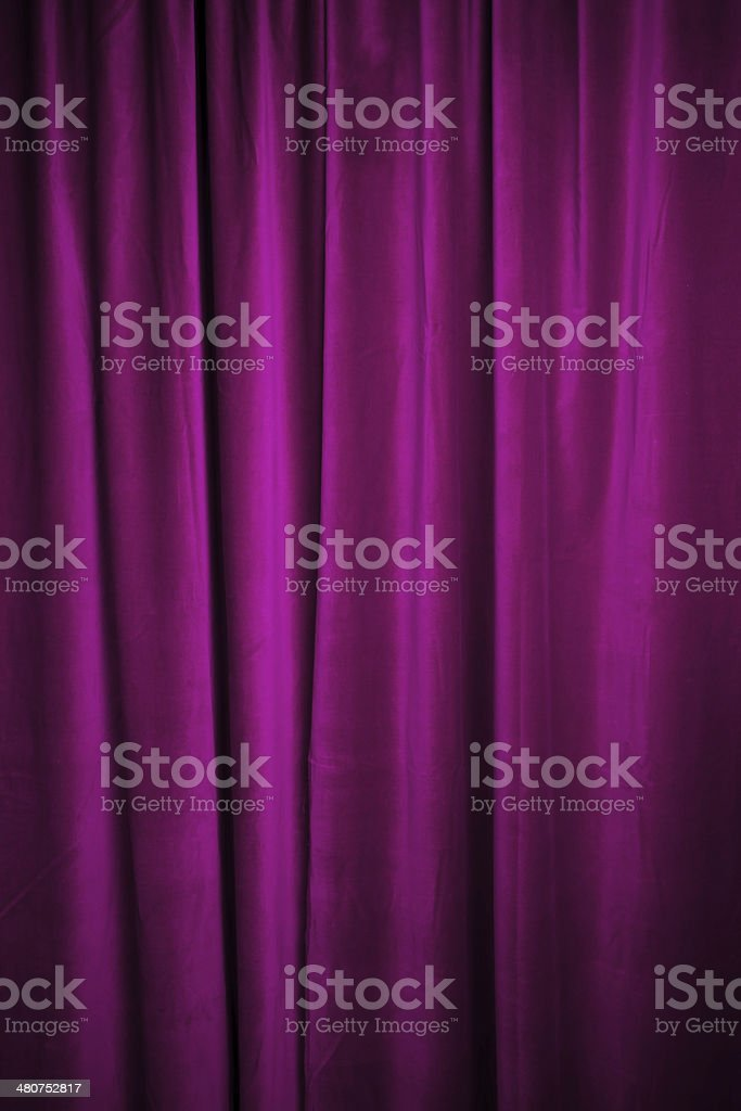 Purple curtain royalty-free stock photo