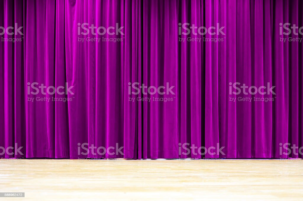 Purple Curtain Stage royalty-free stock photo