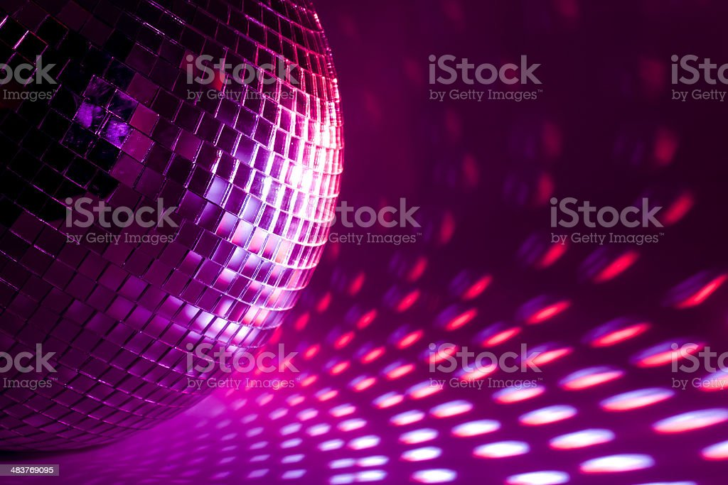 purple disco background stock photo