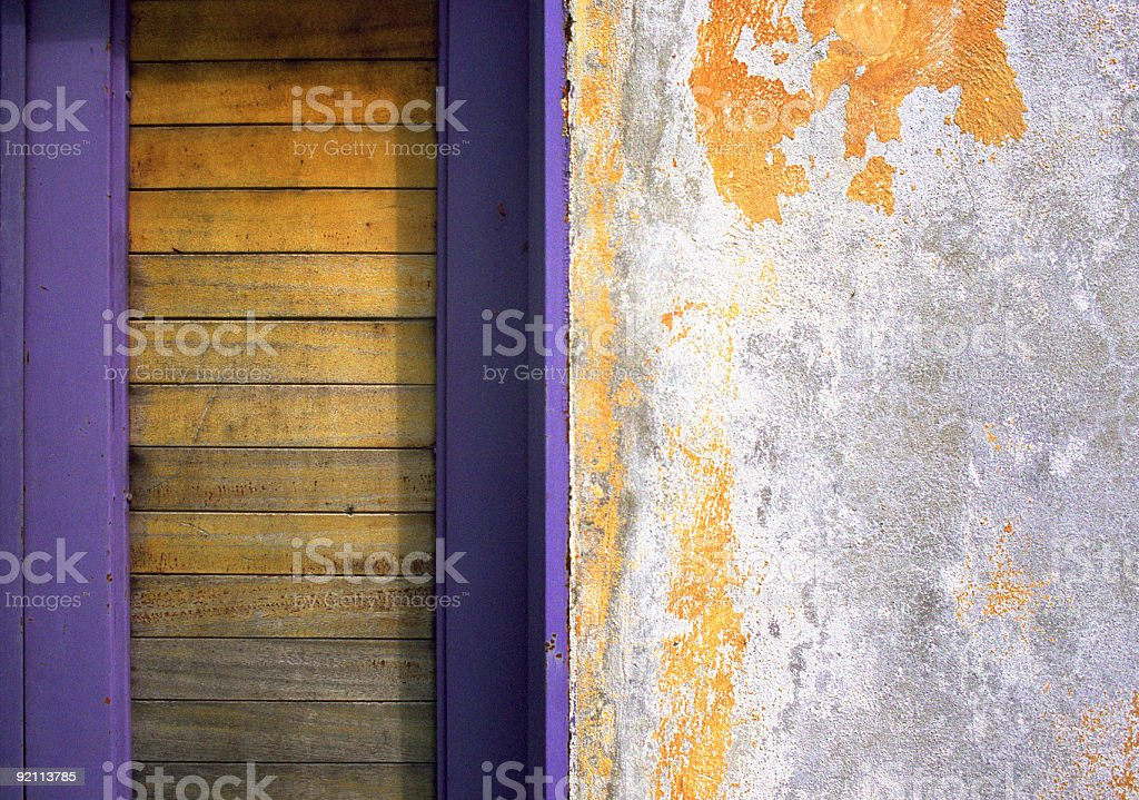 Purple Door Detail, Puerto Vallarta royalty-free stock photo