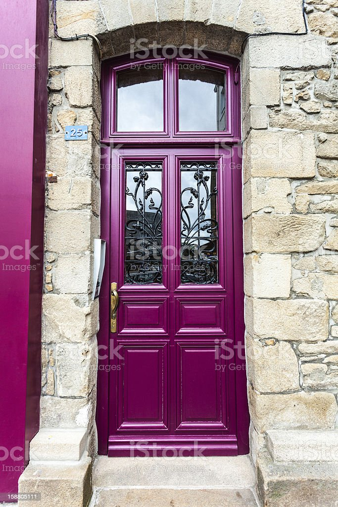 purple door, lifestyle royalty-free stock photo