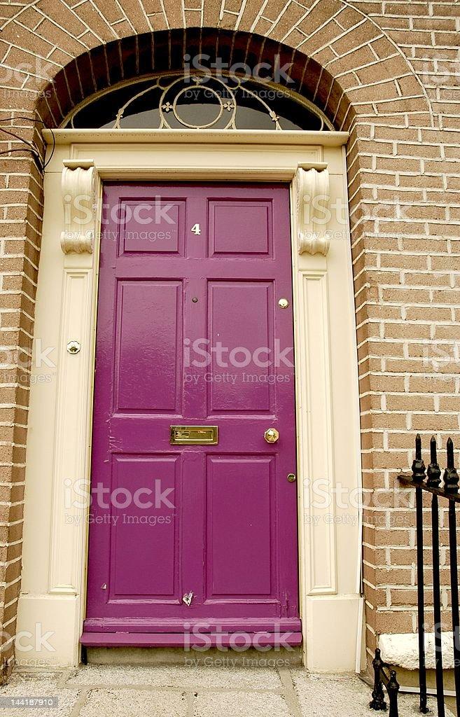 Purple door royalty-free stock photo
