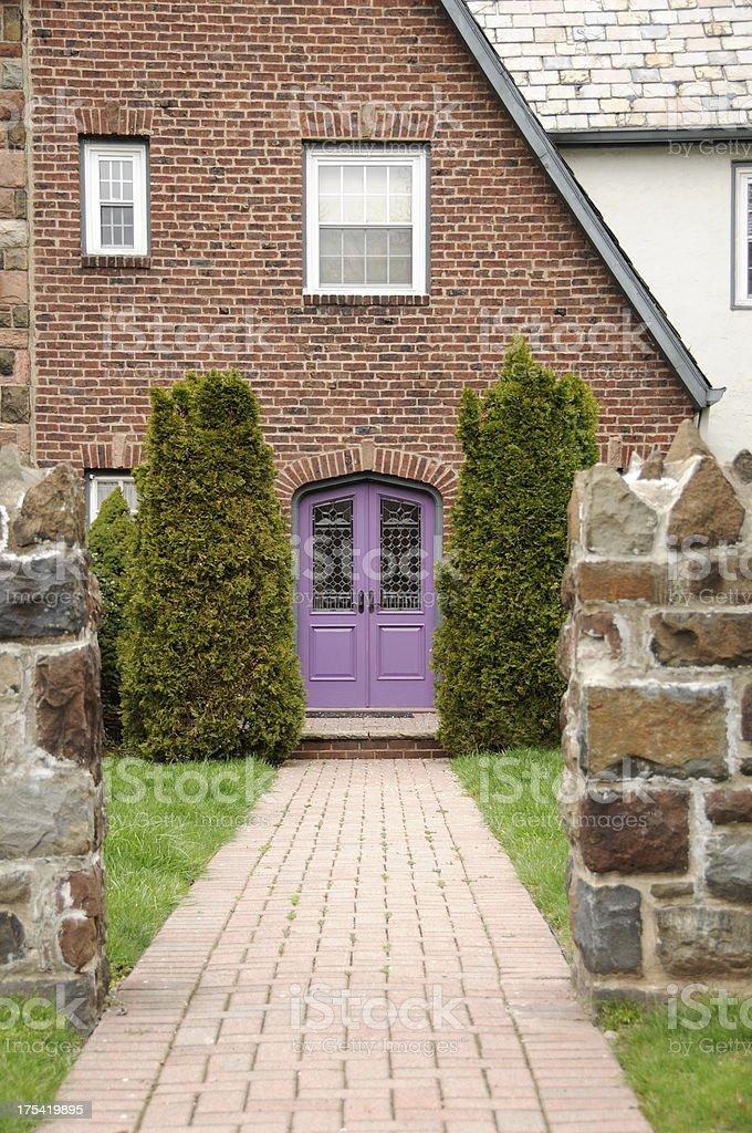 Purple Doors royalty-free stock photo