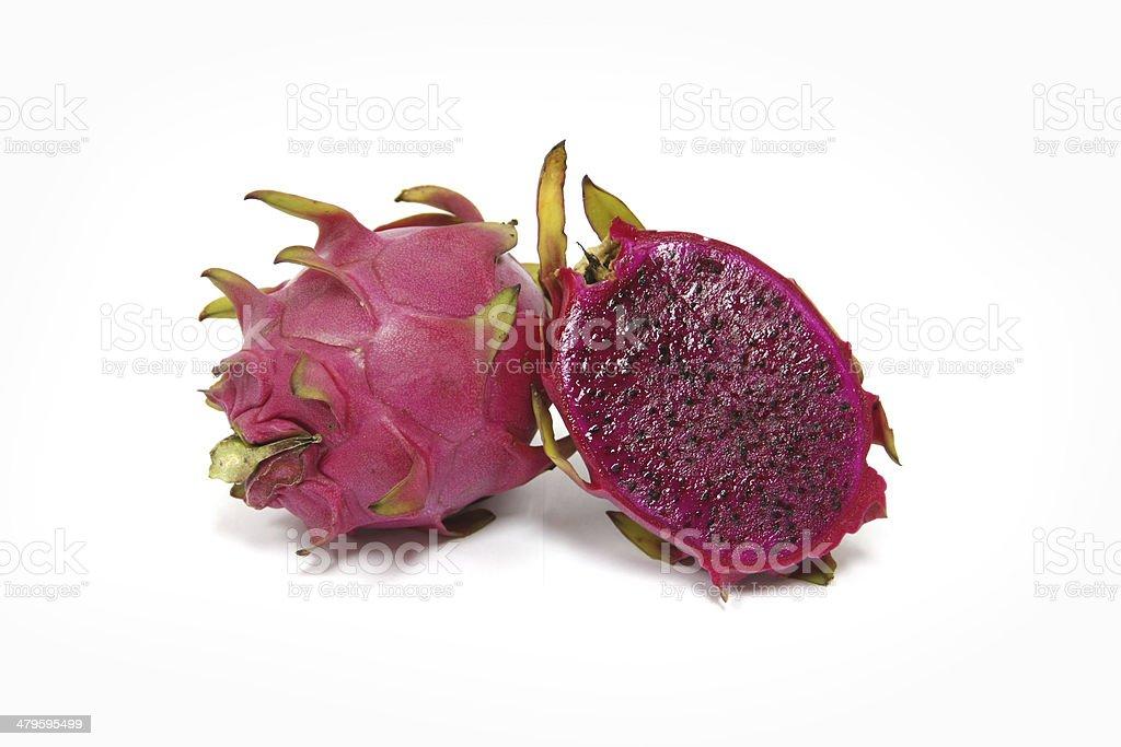 Purple dragon fruit royalty-free stock photo