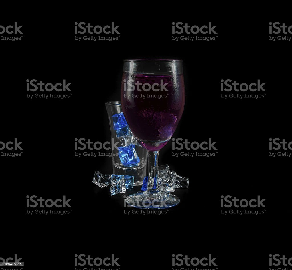 purple drink and ice royalty-free stock photo