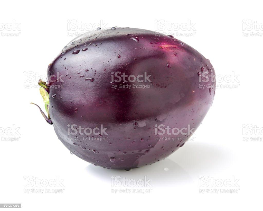 Purple eggplant  on white background stock photo