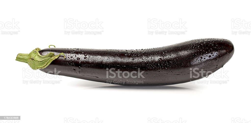 purple eggplant stock photo