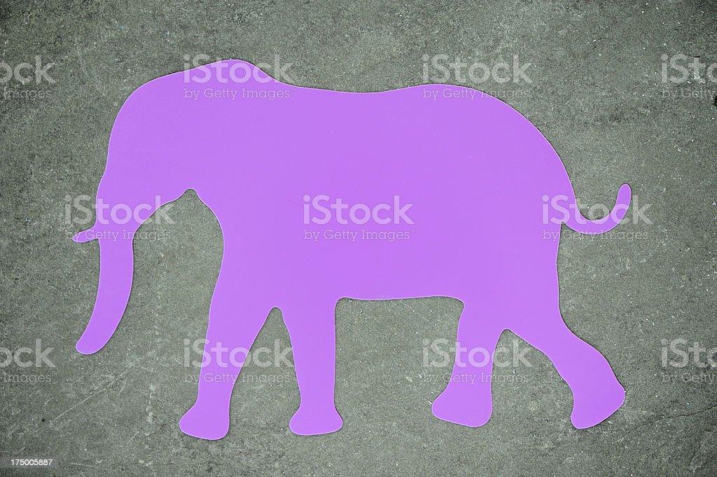 Purple elephant stock photo