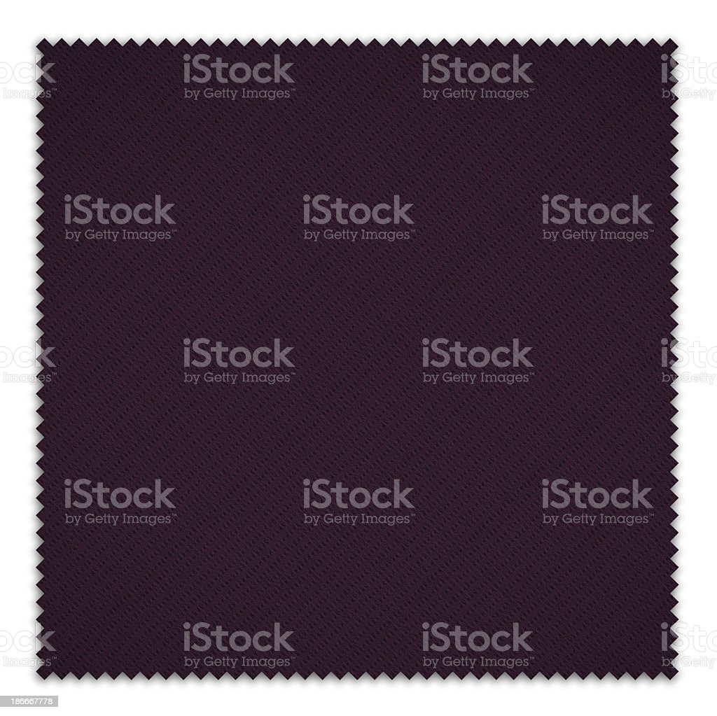 Purple Fabric Swatch (Clipping Path) royalty-free stock photo