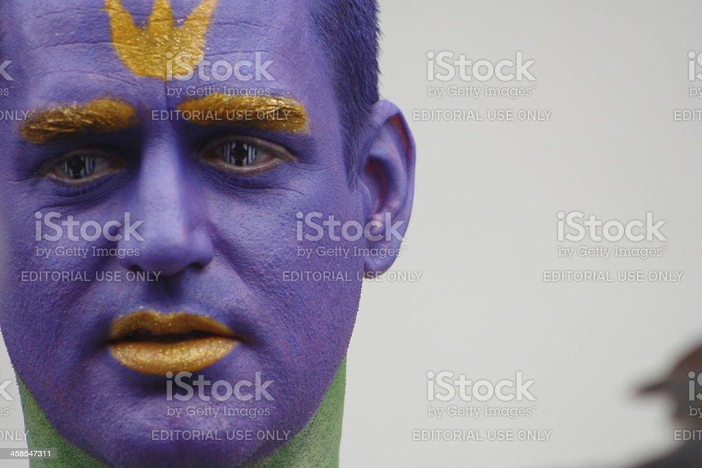 Purple Face royalty-free stock photo