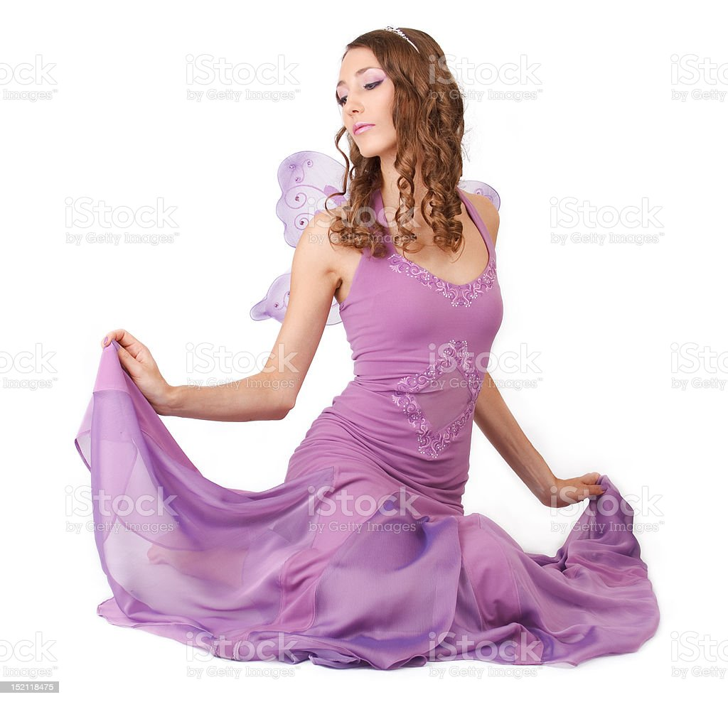 Purple fairy. stock photo