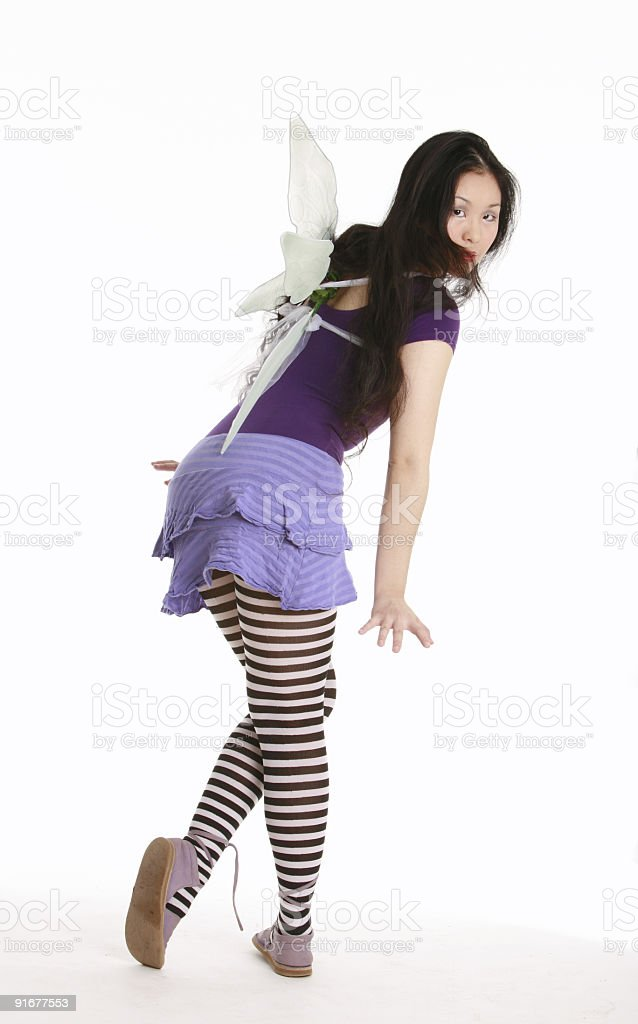 Purple fairy royalty-free stock photo