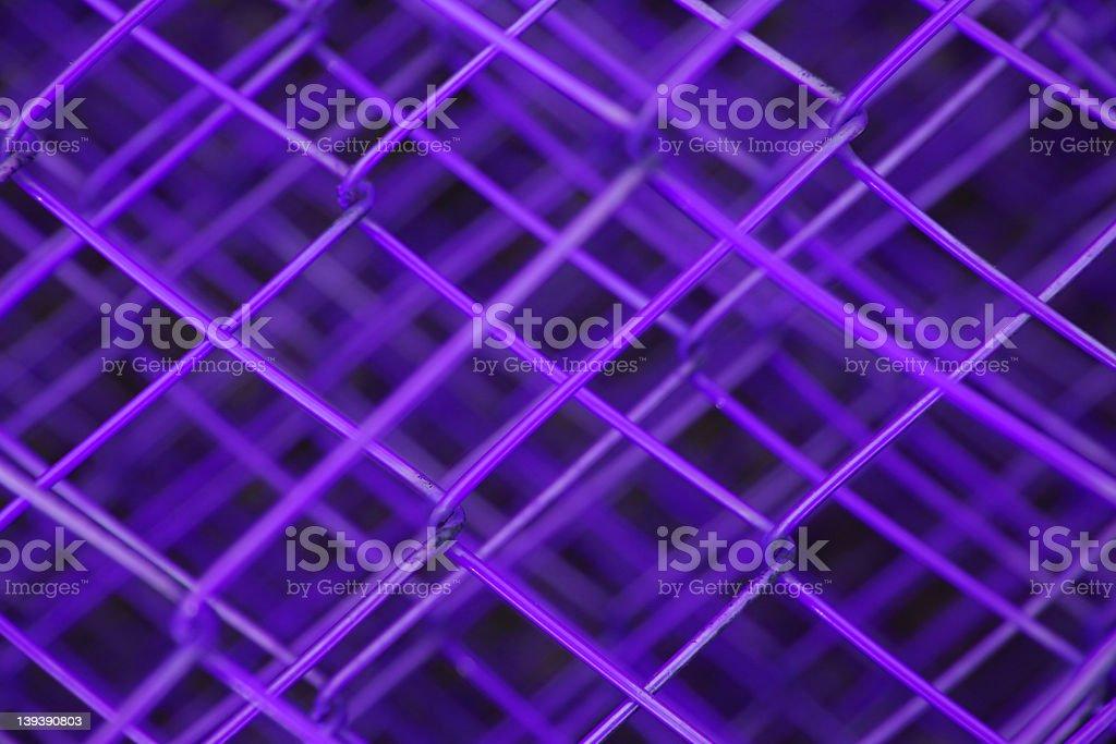 Purple Fence royalty-free stock photo
