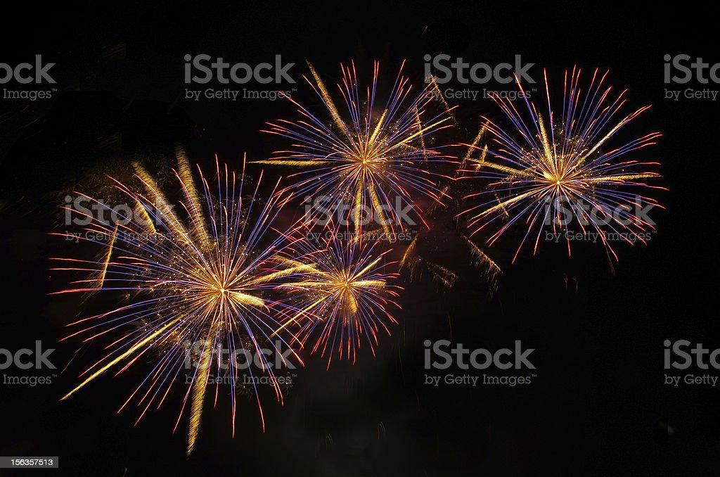 purple  fireworks royalty-free stock photo