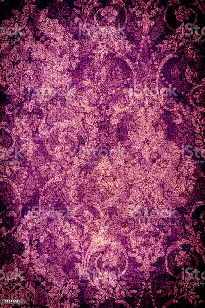 Purple Floral Abtract Background stock photo