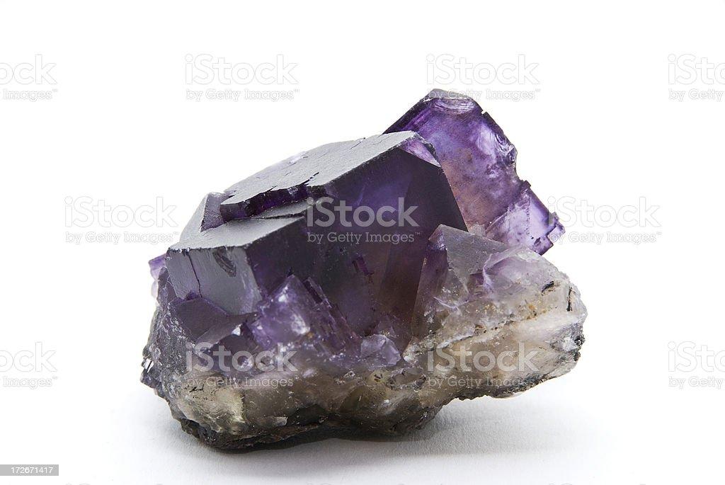 Purple flourite crystal stock photo