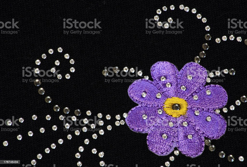 Purple Flower with Sparkle royalty-free stock photo