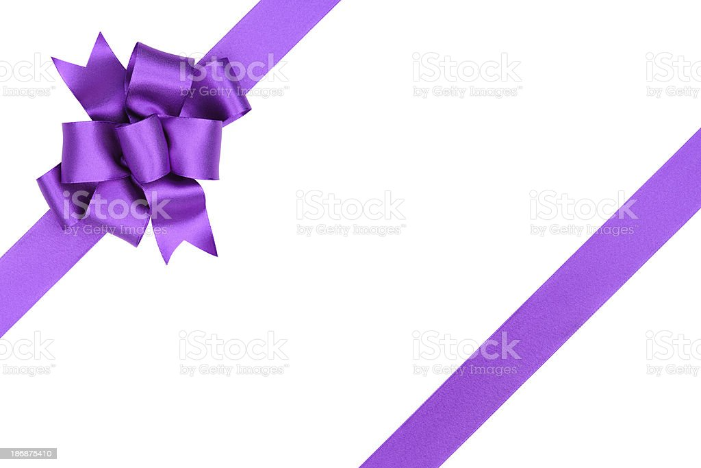 Purple Gift Bow royalty-free stock photo
