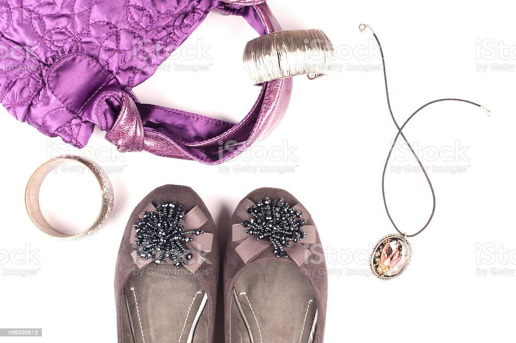 Purple & Gray Fashion stock photo