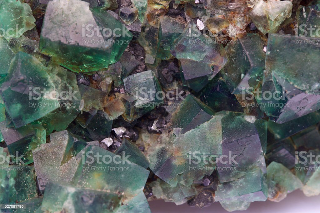 purple green fluorite stock photo