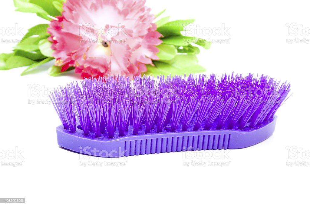 Purple Hand Brush royalty-free stock photo