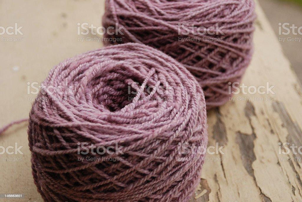 Purple Handspun Yarn stock photo