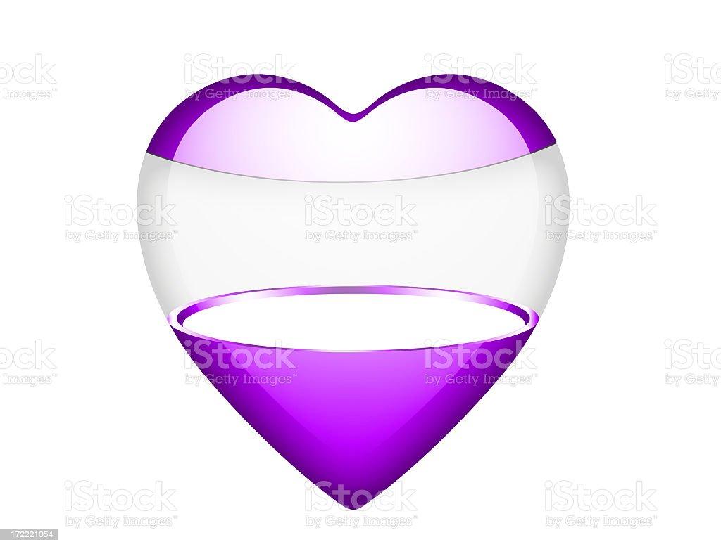 Purple heart box royalty-free stock photo