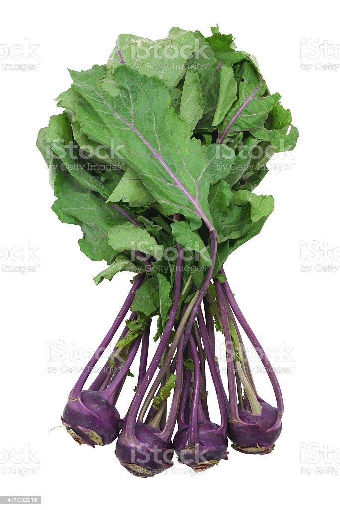 purple kohlrabi royalty-free stock photo