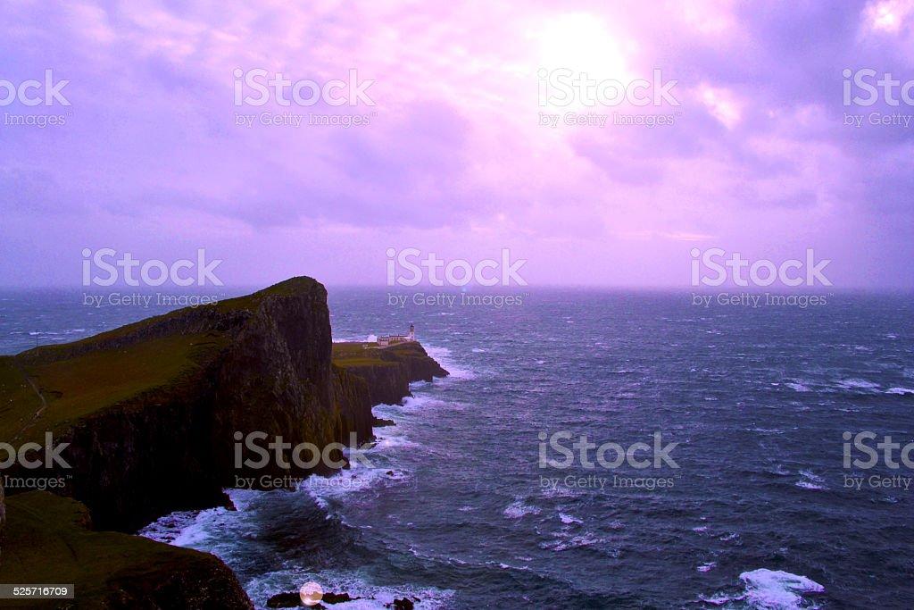 Purple lighthouse royalty-free stock photo