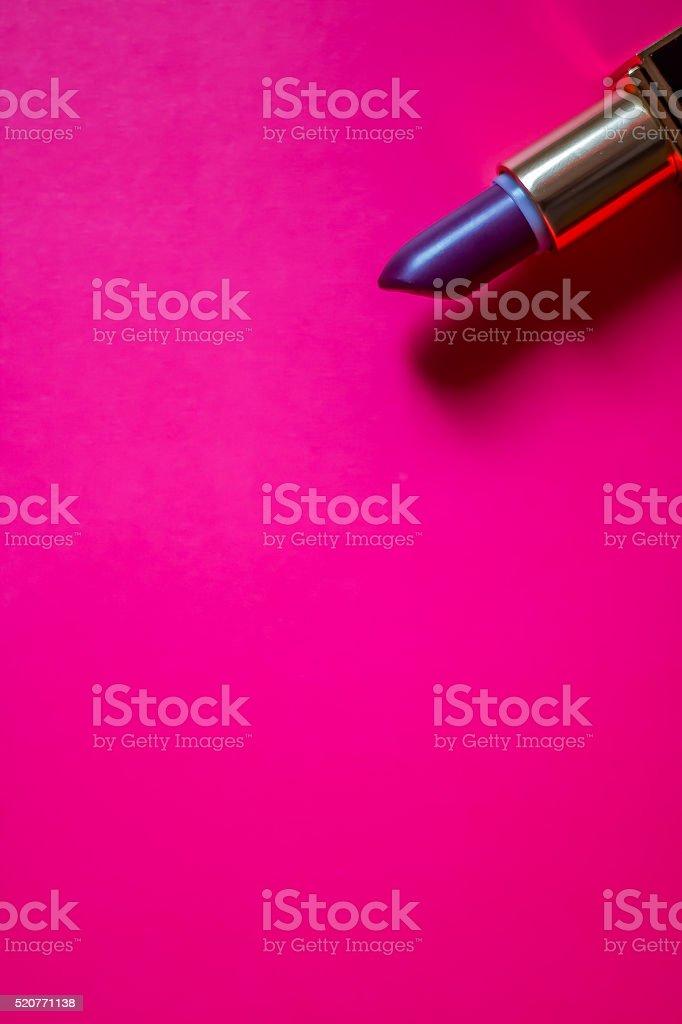 Purple lipstick stock photo