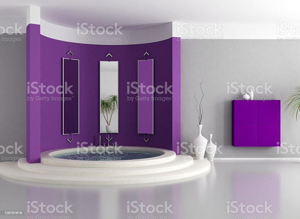 purple luxury bathroom royalty-free stock photo